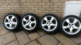 MAZDA ALLOYS WITH TYRES 4 x 100 PCD