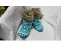 Peruvian bootee slippers