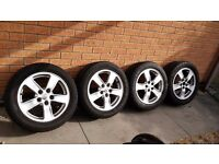 2005 on wards Toyota Avensis Alloy Wheels with two steel wheels as spares