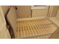 Double bed frame for sale, Ikea Duken, steel, white