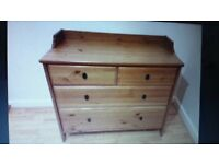 2 x drawers solid pine/very good condition,a matching pair[would seperate]
