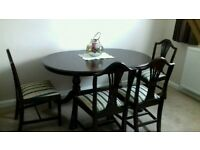 Regency dining table and 6 chairs