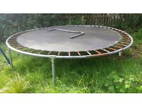 Broken large trampoline