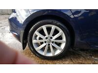 Genuine VW Golf Mk7 Alloy Wheels 17 inch with tyres x4 - perfect condition