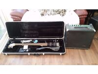 Bass guitar with Amp and hard case
