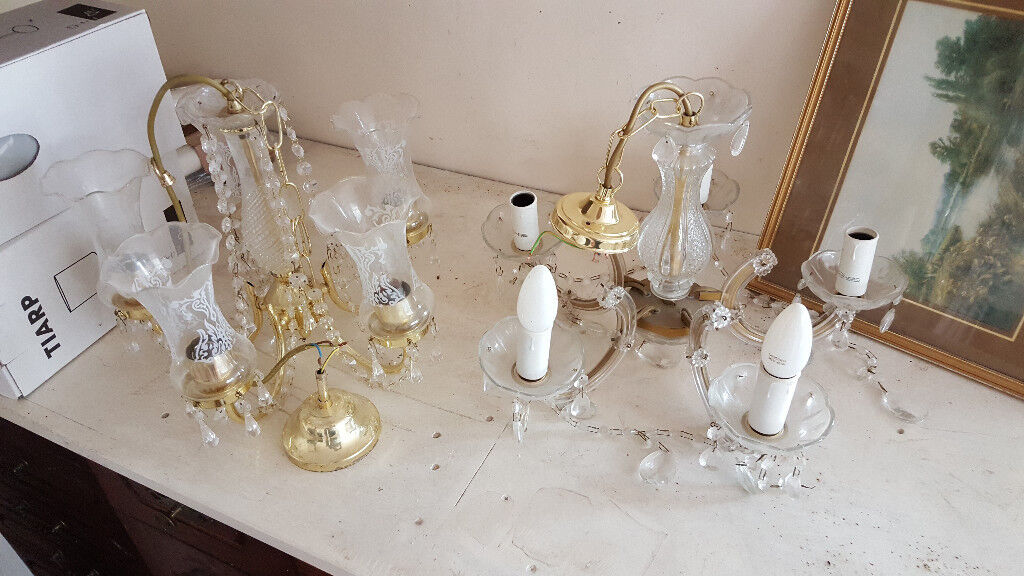 Two Light Crystal Chandeliers for sale   in Catford, London   Gumtree