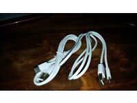 samsung galaxy s8 charger cables x2