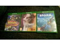 Xbox One Games x3 / Back to the Future, Goat Simulator Bundle, Project Spark