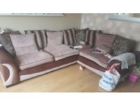 Large corner sofa, accept nearest offer!