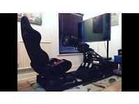 Race simulator setup.