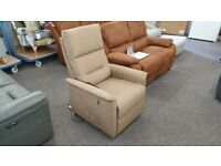 CareCo Milano Riser Recliner Chair Brown Fabric Dual Motor Can Deliver
