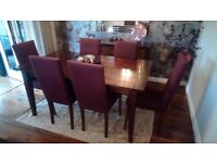Next dining table with 6 chairs