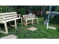 Pallet bench.