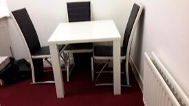 Small dining table and 4 chairs excellent condition only 2 years old