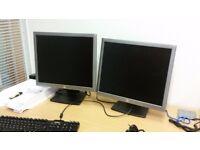 "4 HP E190i 19"" LCD colour monitors"
