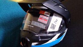 "Schuberth E1 Flip Front Up Adventure Motorcycle Helmet Size""S"", 5 Years Warranty"