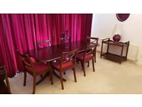 MAHOGANY TABLE & CHAIRS and other mahogany items