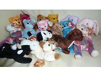 Selection of 16 Original Ty Beanie Babies PLUS 11 Teanie Beanie Babies