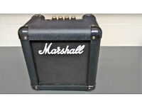 Marshall MG2FX Practice Amp With Effects/Tuner. Battery/Mains In Carry Case
