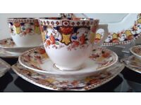 Art Nouveau St Michael China Tea Set Trios - Vintage Wedding, Tea Party, Vintage Christmas Set