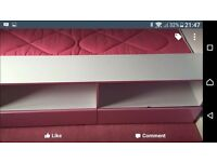 Beautiful Julian Bowen Ltd Low sleeper bed, less than a year old. White with pink trim.