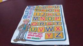 Educational alphabet chart.
