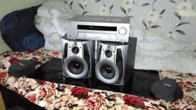 SONY Amp/Reciver+PHILIPS pair