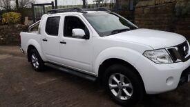 Nissan Navara 2013 .white no vat 48000 miles superb clean truck