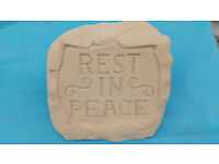 SAND COLOUR REST IN PEACE MEMORIAL STONE