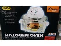 Used Halogen Oven lovely condition, boxed. Cooks food evenly and quickly