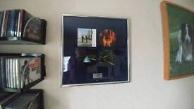 PINK FLOYD FRAMED LIMITED EDITION CD ALBUMS..WISH YOU WERE HERE/DARK SIDE OF THE MOON..154/1000.