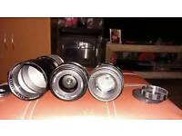 Makion 200mm 3.5 .50mm pentacon 2.8 Helios 58mm 44-2 lenses all in good working order