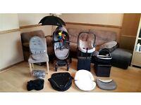 Silver Cross Surf Travel System Pushchair Pram Stroller Includes Car Seat + Accessories