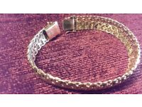Authentic 333 8K Gold Heavy Bracelet Double Box Clasp with Safety 8s