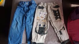 2 x trousers 3-4 years