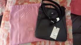 RADLEY LONDON Black Medium Bag with pink protector cover - Unused