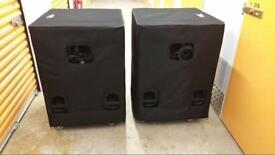 RCF TTS28A PAIR SUBS AMAZING SPEAKERS