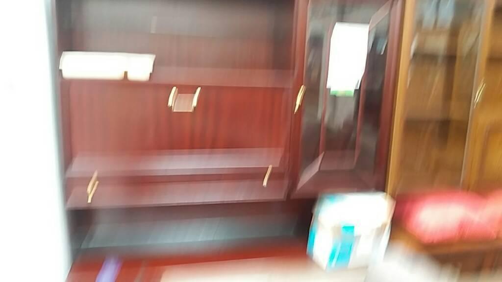 Dark oak wokd corner cabinet