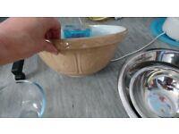Selection of mixing bowls