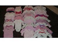 Newborn Baby Girl's Sleepsuits and Vests