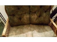Free conservatory bamboo settee