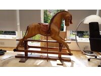 Vintage Hand-Crafted Wooden Relko Rocking Horse --- Great Condition