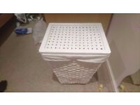 *** LAUNDRY BASKET *** with LINING | IKEA | white