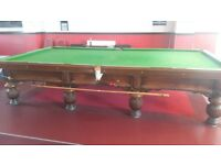 Full size snooker table solid oak