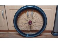 700c Black Front Wheel with Tyre