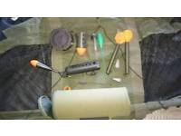 Carp fishing Spods, Marker Floats + weights, Controllers, and case