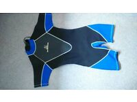 Youths, small medium,adults Shortie wetsuit., Rear zipped