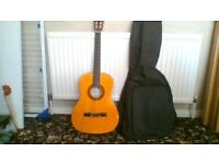 ACOUSTIC GUITAR+BAG+STAND+TUNER,BOOKS,DVDS