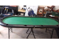 large casino card table seats up to ten players