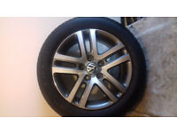 Vw Atlanta 16inch alloy wheel & tyre 205/55/16 (1KO601025BM) Golf/Touran/Caddy/Jetta